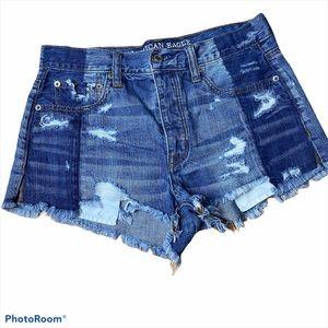 Vintage Hi-Rise Festival Destroyed AE shorts